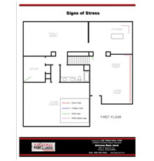 Foundation repair floorplan Catalina, Marana, Tortolita, Sahuarita, Vail, Tanque Verde, Casas Adobes, Tucson Estates and the Drexel Heights Arizona