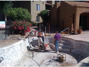 Pressure Grouting a swimming pool in az