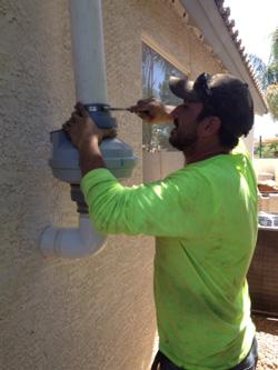 Installing soil ventilation system in Tucson