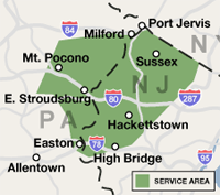 Our New Jersey and Pennsylvania Service Area