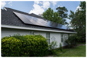 Solar panels on home in Eastern SC