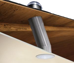 Light tube and daylighting system installation in Charleston