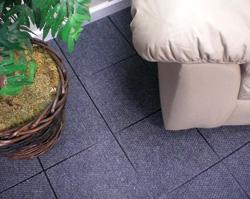 carpeted basement floor tiles in Montrose