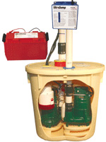 Battery Back Up Sump Pump System