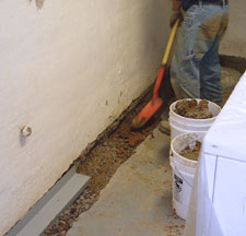 Sump Pump Drain Installation in Chimney Rock