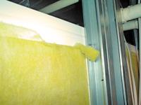 Open fiberglass insulation
