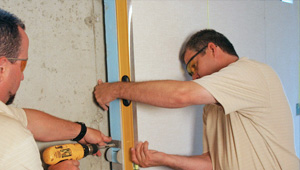 installing a basement wall finishing system in Florence