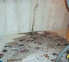 Leaking Basement Wall Crack in Fruita