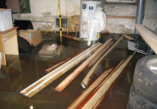 Leaky basement walls and floor