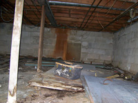 a moldy, rotting crawl space in Colorado & New Mexico