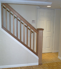 Renovated basement staircase in Pagosa Springs