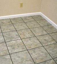 Basement Flooring in a home in South Fork, Colorado