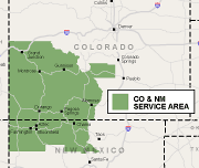 Our Colorado & New Mexico Service Area