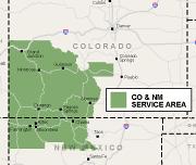 Our Colorado & New Mexico Service Area