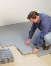 Installing a Waterproof Basement Sub Floor in Alamosa