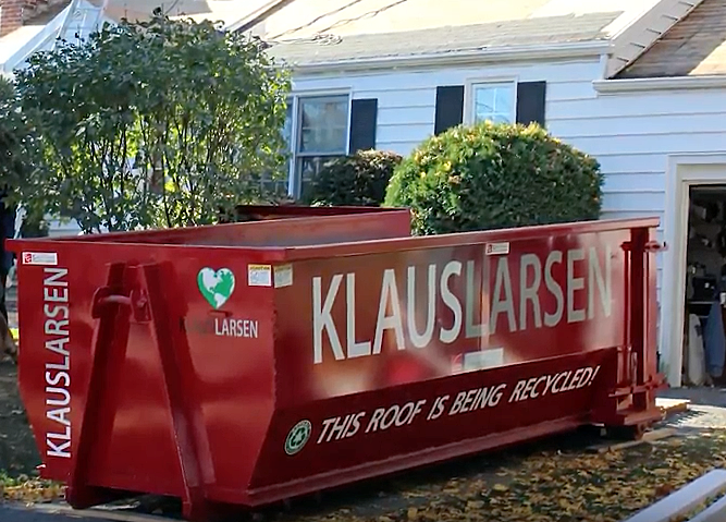 One of our dumpsters used on a job