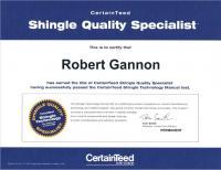 Robert Gannon- CertainTeed Shingle Quality Specialist