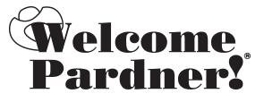 Welcome Pardner