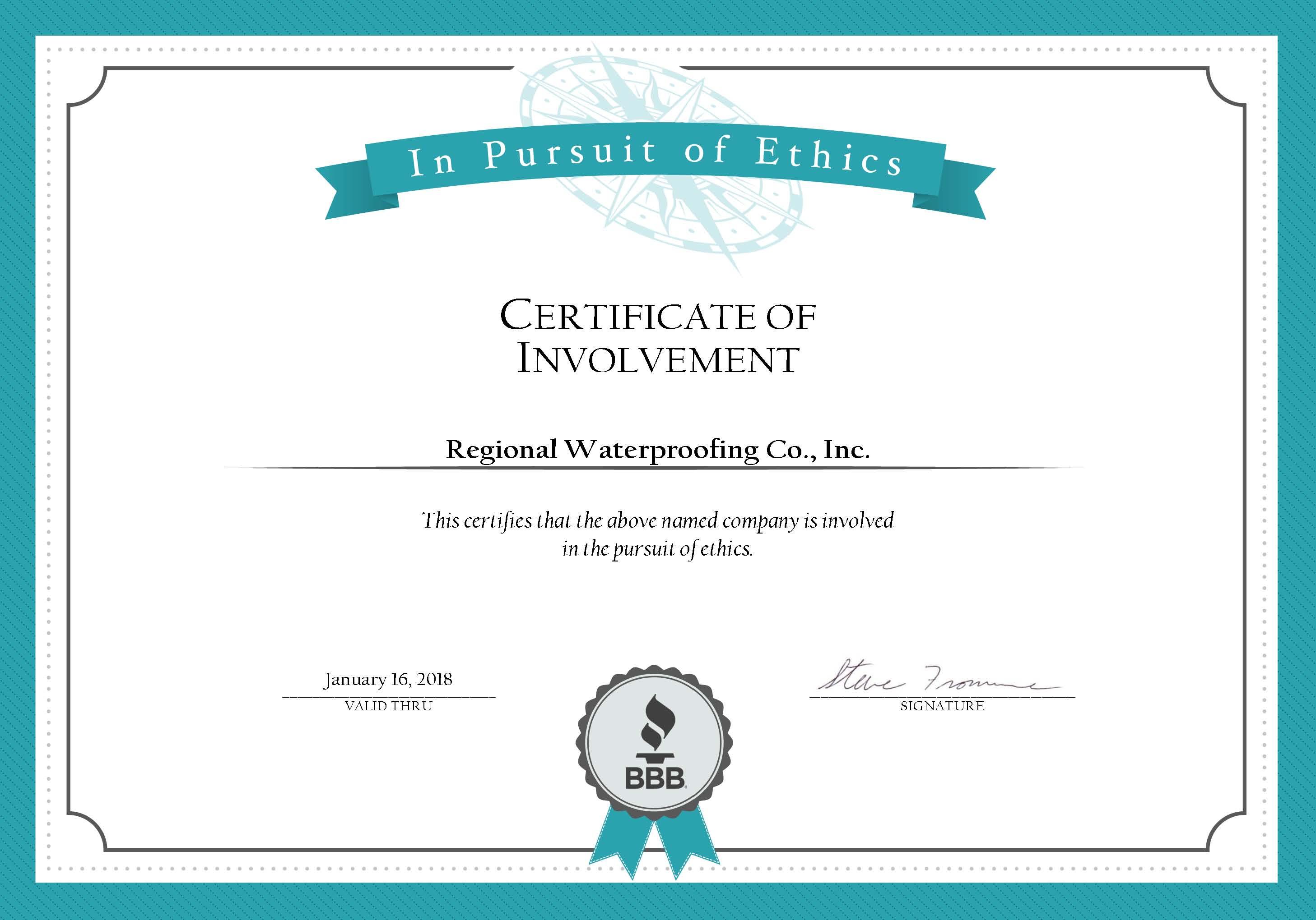 BBB Pursuit of Ethics