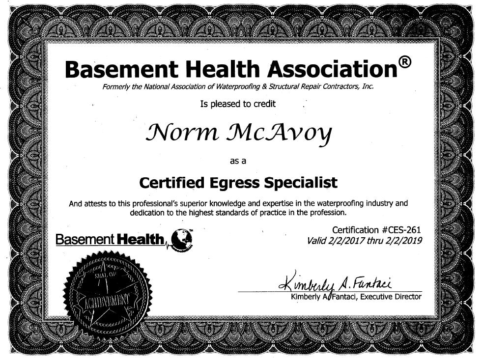 Certified Egress Specialist
