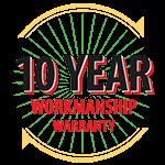 10-Year Workmanship Warranty