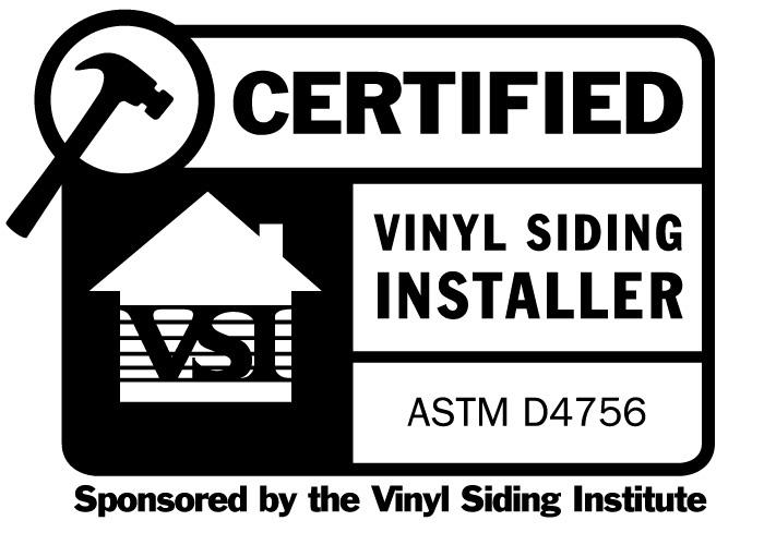 Certified Vinyl Siding Installer
