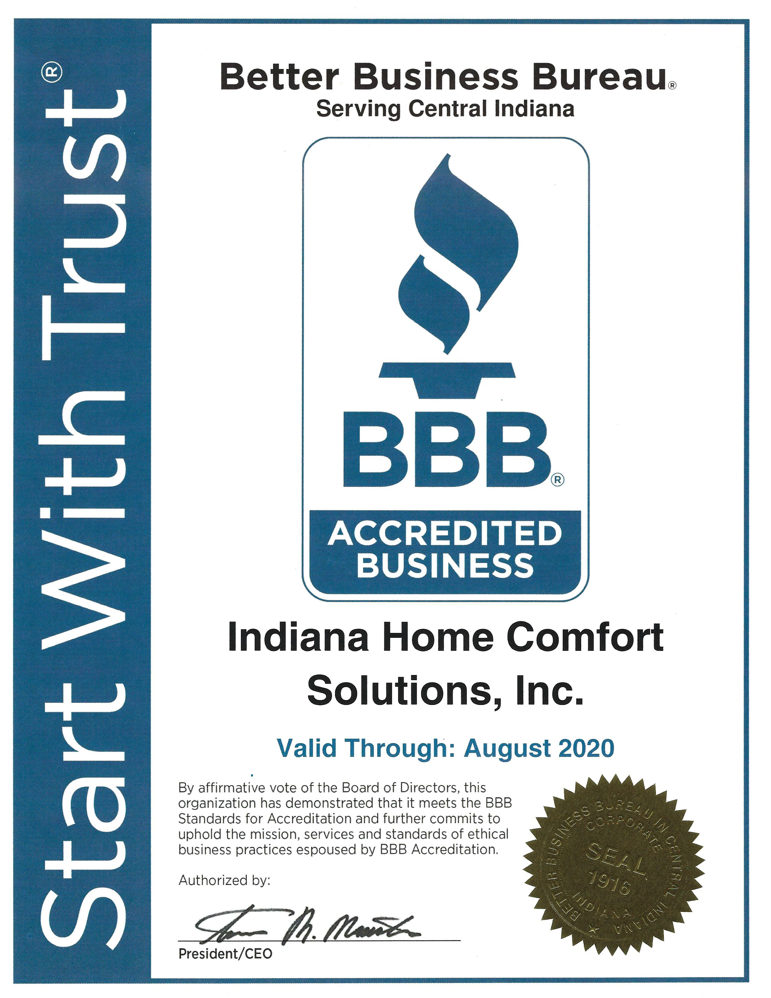 BBB Accredited Business 2020