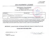 2015 Business License