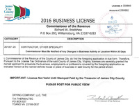 2016 Business License