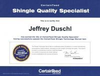CertainTeed Shingle Quality Specialist