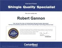 Robert Gannon- CertainTeed Shingle Quality Specialist