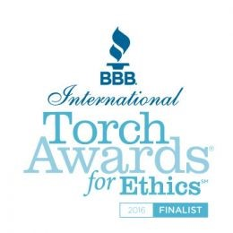 Arizona BBB Torch Award for Ethics Finalist - 2016