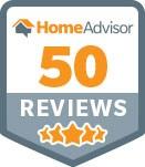 HomeAdvisor 50 Reviews Award