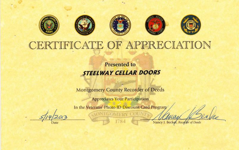 Montgomery County Veterans Discount Program