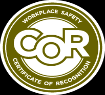 COR Safety Certification.  (Certificate Of Recognition)