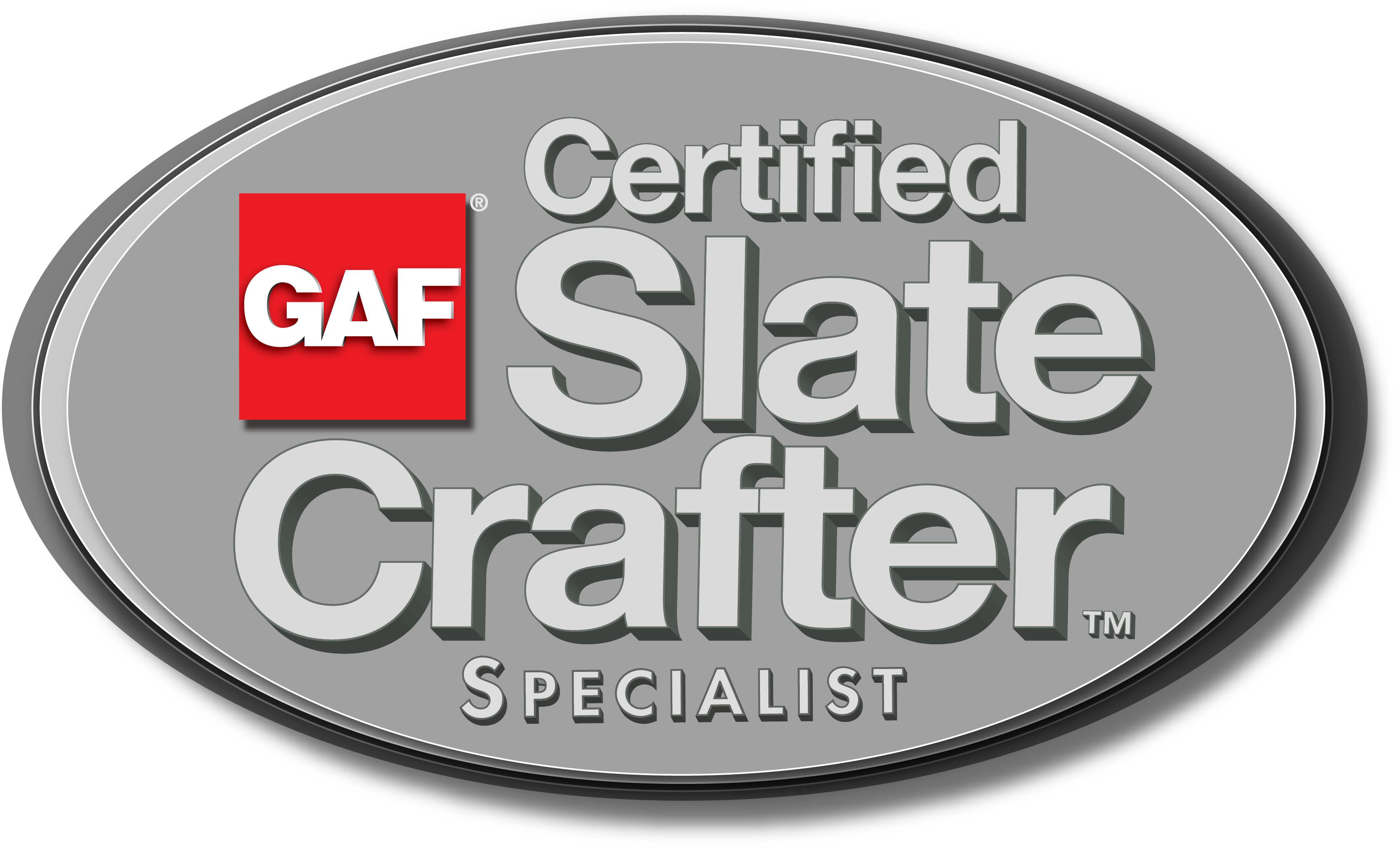 GAF Certified SlateCrafter Specialist