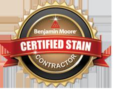 Benjamin Moore Certified Stain Contractor