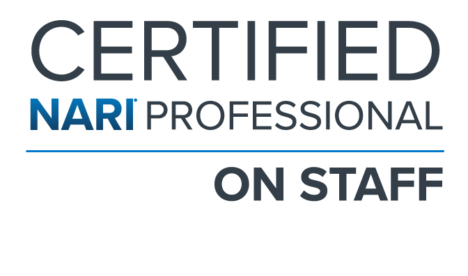 Certified NARI Professional on Staff