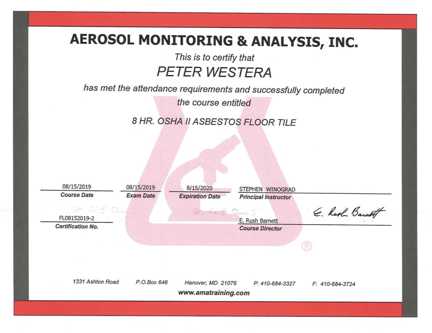 Asbestos Certified