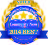 2014 Community News Reader's Choice Award