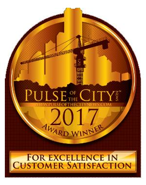 3rd Consecutive Customer Satisfaction Award from Pulse of the City!
