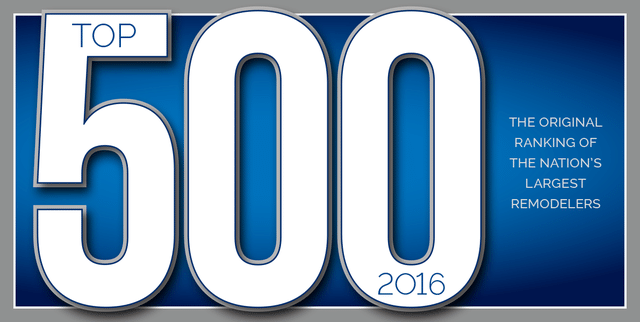 Top 500 Remodelers in the Nation 2016