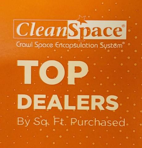 2019 CleanSpace Top Dealers By Square Ft. Purchased- Top 10!