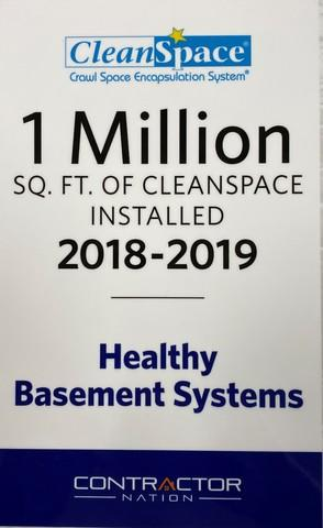 1 Million Sq. FT. OF CleanSpace Installed