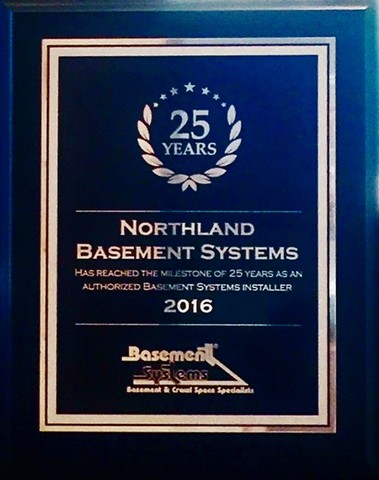 Northland Celebrates 25 YEARS with Basement Systems