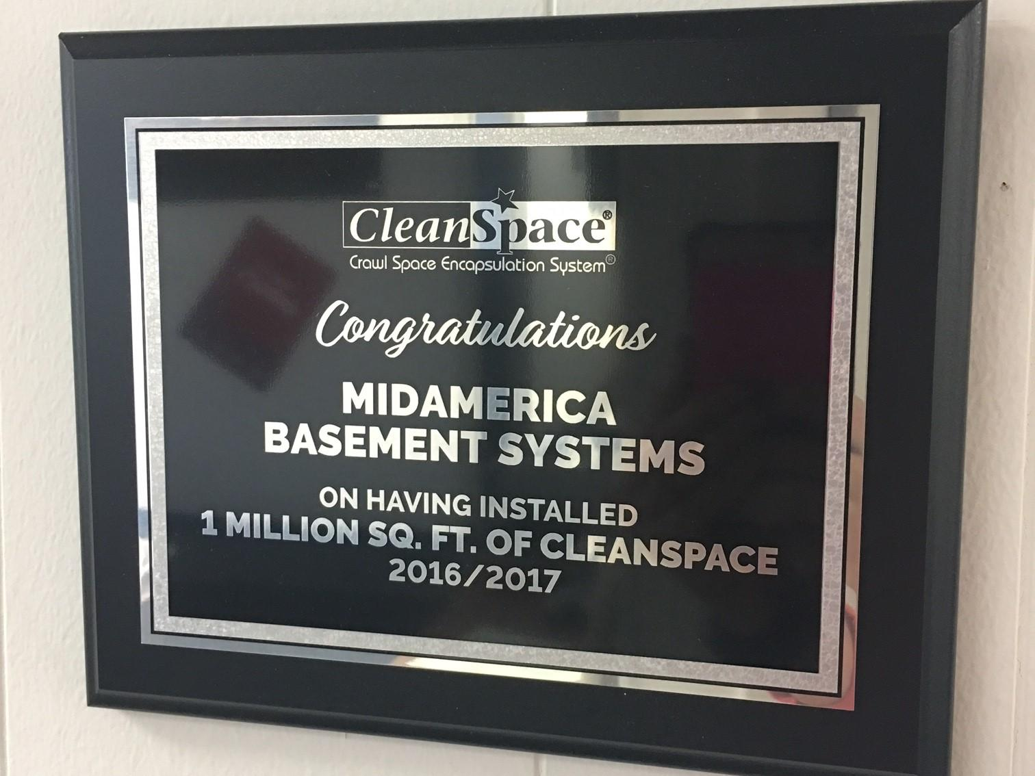 Installation of 1 Million Square Feet of CleanSpace