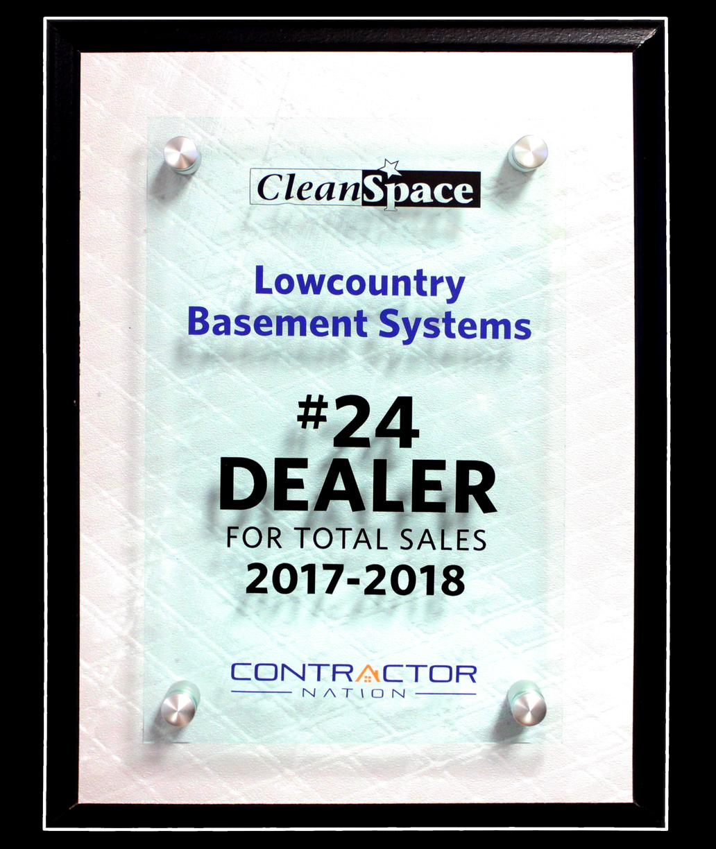 #24 CleanSpace Dealer in Total Sales