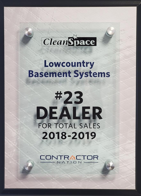 #23 CleanSpace Dealer Total  Sales 2019