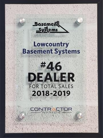 #46 Basement Systems Dealer in Total Sales 2019