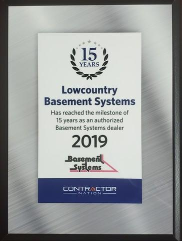 Basement Systems Milestone 15 year Anniversary 2019